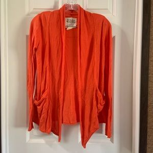 Billabong Orange Pent Up Open Front Cardigan S